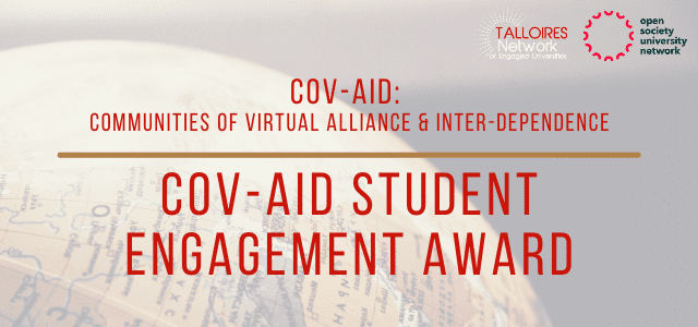 Announcing the COV-AID Student Engagement Award Winners