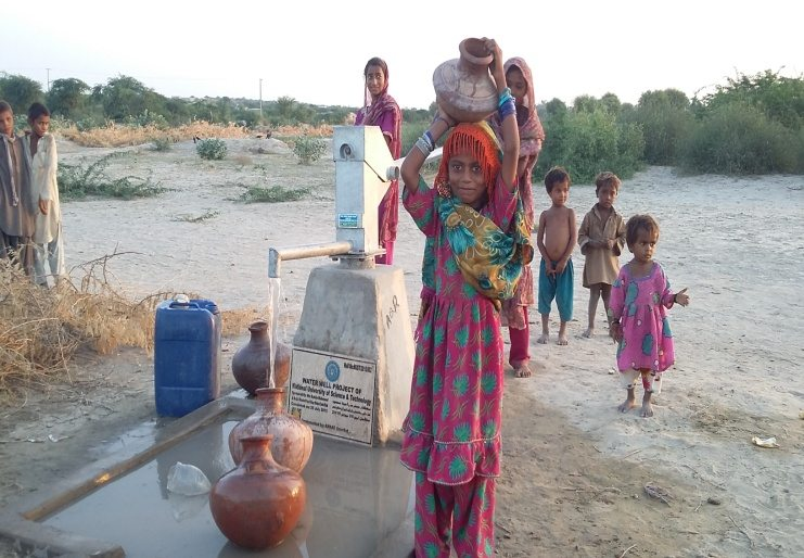 NUST Aids Drought-Stricken Thar Area with New Water Well
