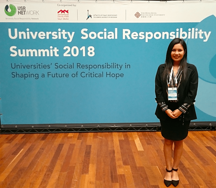 Steering Committee Student Representative attends the University Social Responsibility Network Summit