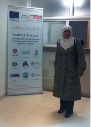 Dr Randa Al Mahasneh, Director of the Tawasol Service Learning Centre at Hashemite University and Co-Director of Tawasol