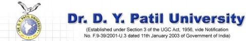 Dr. D.Y. Patil University Header